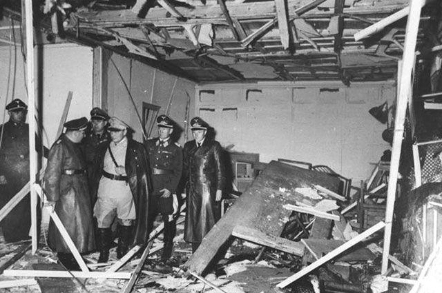 Руины комнаты, в которой произошёл взрыв. 20 июля 1944 года.