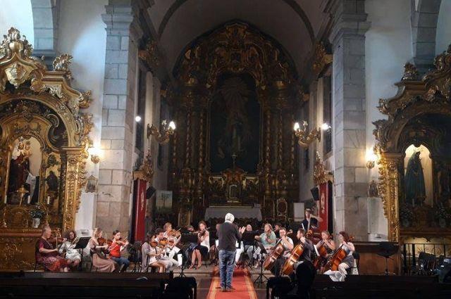 Первый концерт красноярского оркестра прошел в соборе Matriz Churchof Póvoa de Varzim.