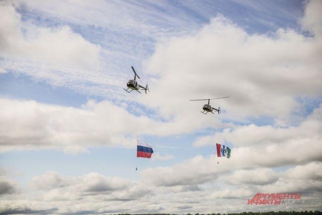 Спортсменки смогли точно посадить вертолёт на линию шириной 5 см