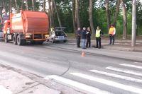 На месте аварии работали сотрудники полиции