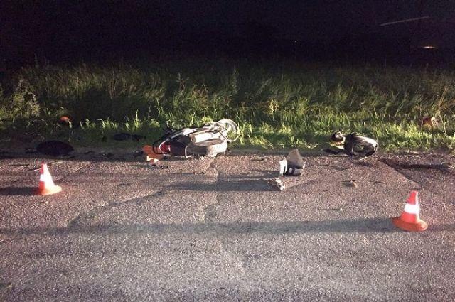 В Черняховском районе погиб водитель скутера
