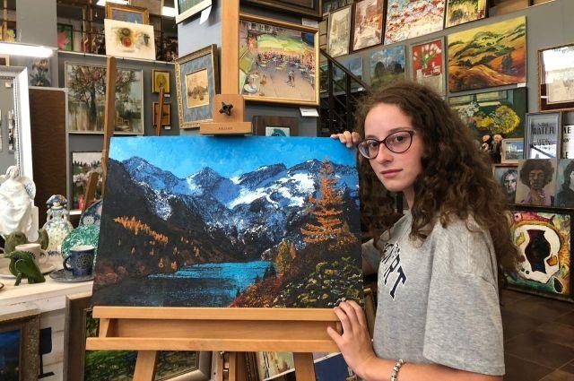 Картина школьницы из Омска будет выставлена в Третьяковской галерее