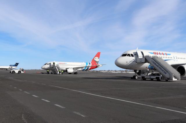 В аэропортах Ямала увеличился пассажиропоток