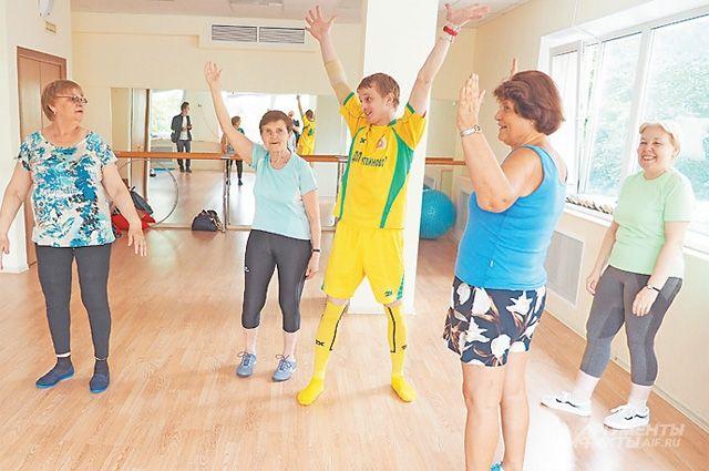 Занятие двигательной гимнастикой  для тушинских пенсионеров.