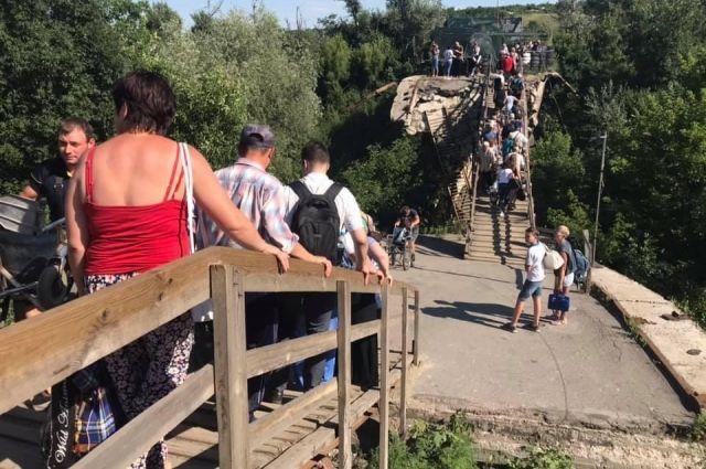 Создана специальная группа для возобновления моста у КПВВ Станица Луганская
