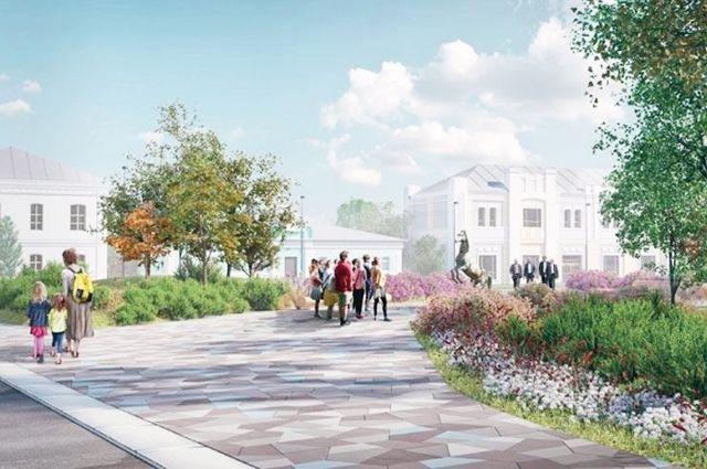 Обновлённая площадь в Гавриловом Посаде будет выглядеть очень современно.