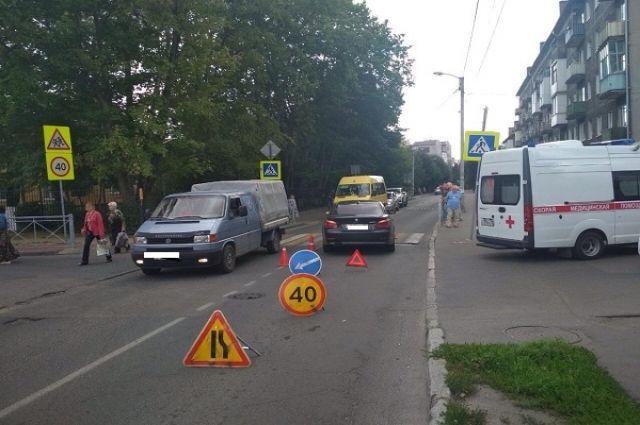 В Калининграде 73-летний водитель без прав сбил пешехода на зебре