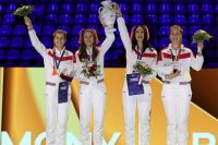 София Позднякова с подругами по команде - золотые медалистки ЧМ