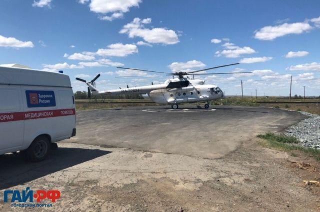 Гайчанку после тяжелых родов доставит в Оренбург вертолет санавиации