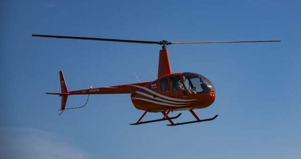 В небо поднялись не только самолеты, но и вертолеты.