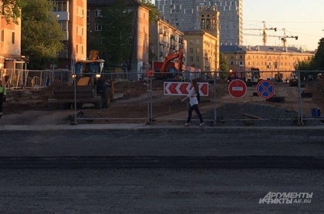 В Перми идёт реконструкция улицы Революции.