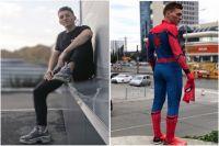 Барнаулец в жизни и в костюме человека-паука
