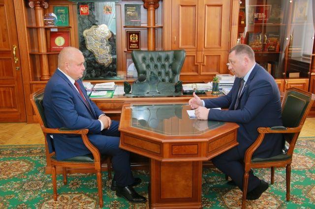 Сергей Цивилев провел встречу с главой Новокузнецкого района Андреем Шарниным.