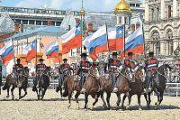 Наши изарубежные спортсмены-конники– одно изукрашений фестиваля. Нафото: конная команда Palmas de Penaflor, Чили.