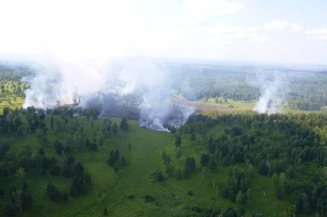 На тушение пожаров в край отправят 10 самолетов ИЛ-76 и 10 вертолетов  военно-транспортной авиации.