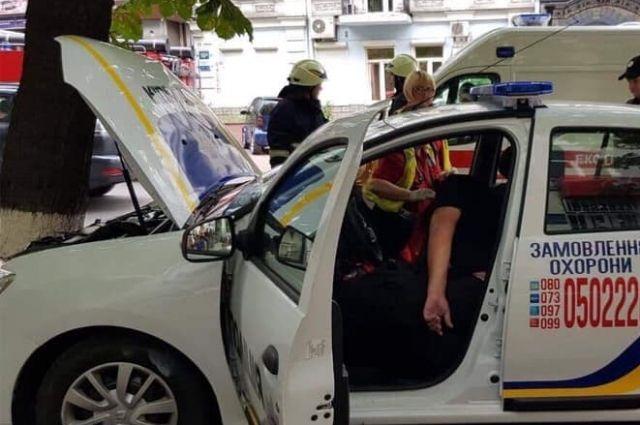В Киеве полицейский умер за рулем служебного автомобиля