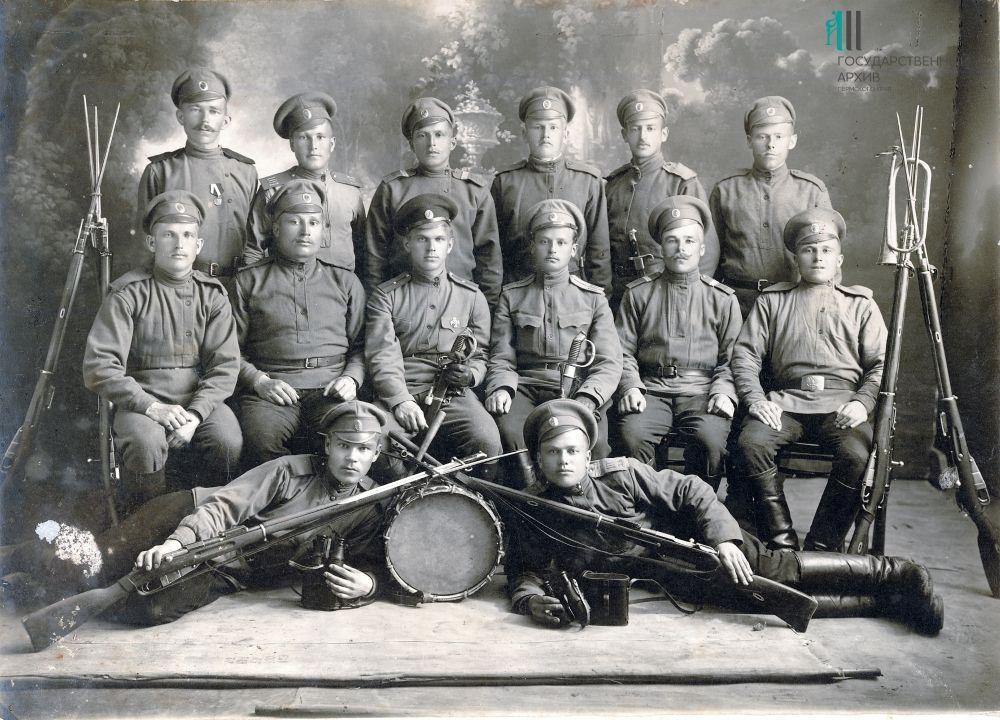 Солдаты русской армии, 1914-1916 годы.