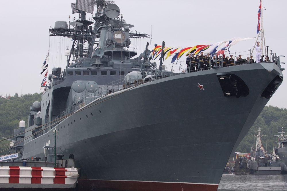 «Адмирал Левченко» — большой противолодочный корабль проекта 1155.
