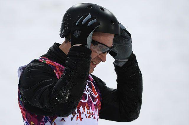 Алексей Гришин (Белоруссия) в квалификации лыжной акробатики на соревнованиях по фристайлу среди мужчин на XXII зимних Олимпийских играх в Сочи.