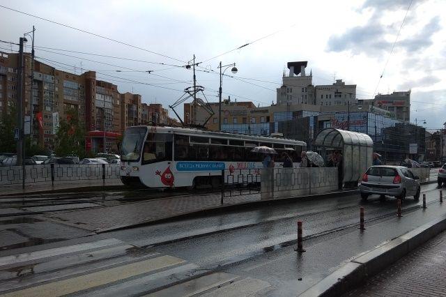 Трамвай шёл только до