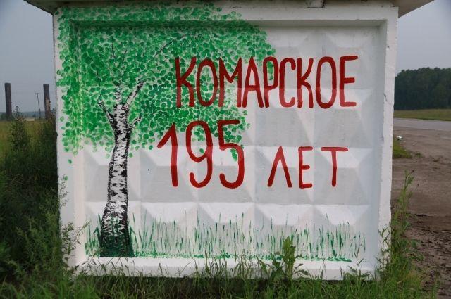 Остановка в селе Комарское.