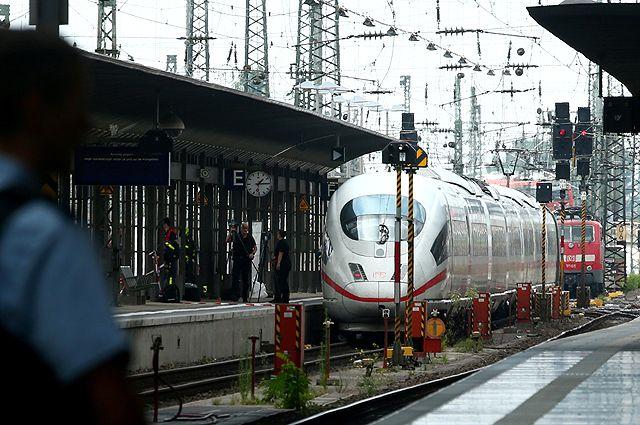 Вокзал Франкфурта.