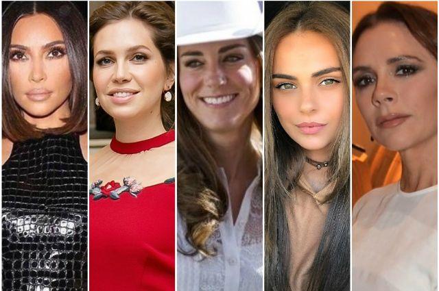 Ким Кардашьян, Дарья Жукова, Кейт Миддлтон, Ксения Дели, Виктория Бекхэм.