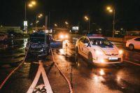 В Киеве пьяный нацгвардеец пытался скрыться от полиции и сбил таксиста