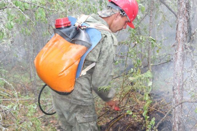 Пожарный пропал в районе Байкитского лесничества.