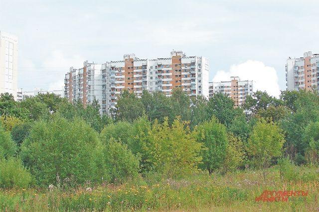 Так это место выглядитлетом 2019 года. Деревья наобоих берегах Алёшинки разрослись,  но характерную форму полукруглых домов поЛукинской трудно счем-либо спутать.