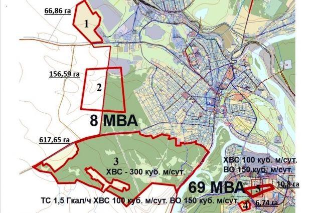 Только три участка занимают 630 га.