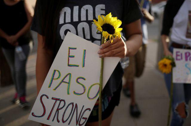 На месте массового расстрела в Эль-Пасо.