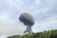 Взрыв произошёл на артиллерийском складе.