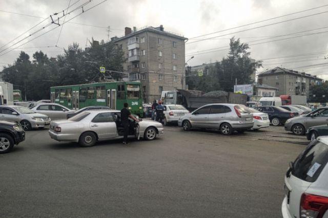 Пробки - частое явление в Новосибирске