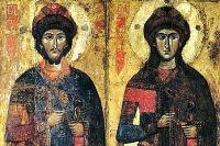 Фрагмент иконы из Савво-Вишерского монастыря, XIII — начало XIV века (Киевский национальный музей русского искусства).
