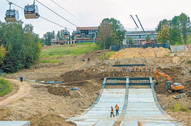 Новый 75-метровый трамплин на Воробьёвых горах планируют открыть в 2020 году.