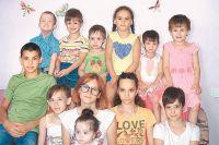 Семья Хариных устойчиво растёт. Для младших детей даже открыли специальную группу в детском саду.