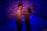 """Зарина и Ярослав играют мать и сына в спектакле """"Обещание на рассвете""""."""