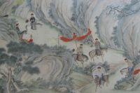 Фрагмент свитка. Сцены из жизни военных чиновников. XIX век.