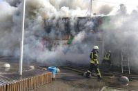 В Киеве возле станции метро «Дарница» горел рынок