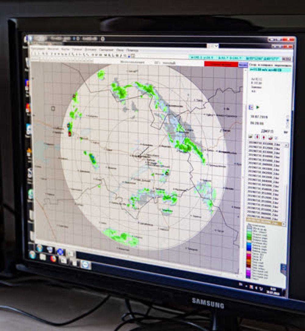 На мониторах отображается все, что нужно для выполнения безопасного (с точки зрения погодных условий) полета.