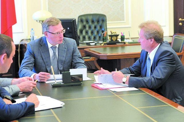 Бурков и Моисеенко обсудили актуальные вопросы.