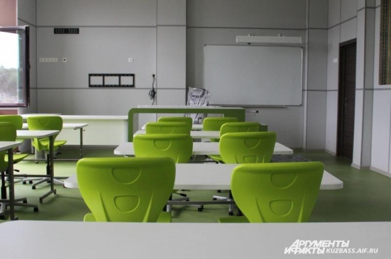 Учебные классы также почти готовы.
