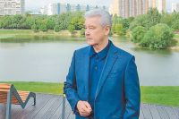 Мэр Москвы побывал на Большом Очаковском пруду и проинспектировал ход работ.