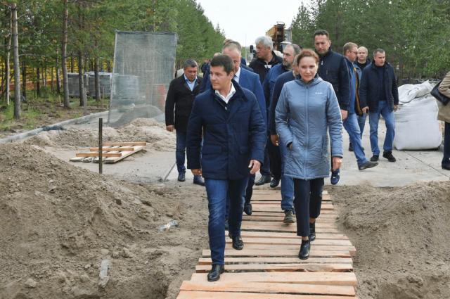 Губернатор Ямала с рабочим визитом посетил Надымский район