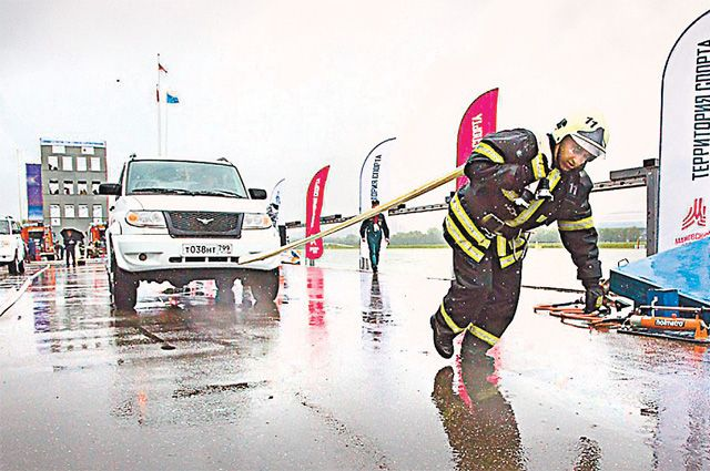 И такие «трюки» для пожарных тоже реальность.