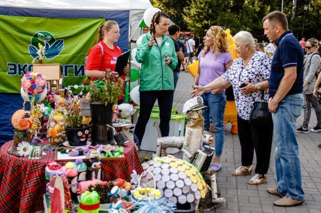 На фестивале прошла экологическая выставка.