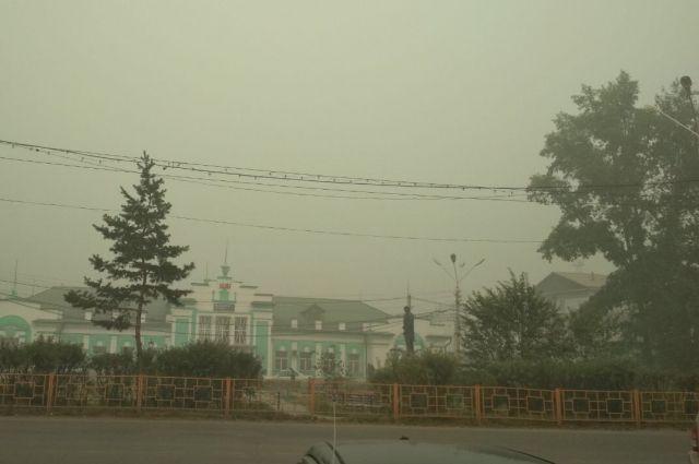 9 августа Усть-Кут заволокло дымом как никогда сильно.