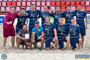 «АиФ.ua» - бронзовые призеры второй лиги чемпионата Киева по пляжному футболу