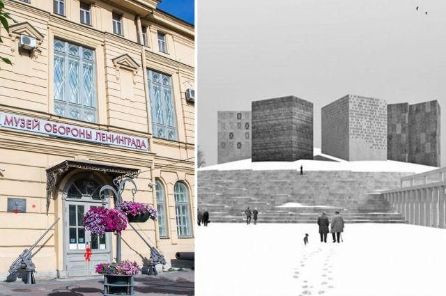 Здание музея в доме 9 по Соляному переулку и архитектурный проект нового здания Никиты Явейна.